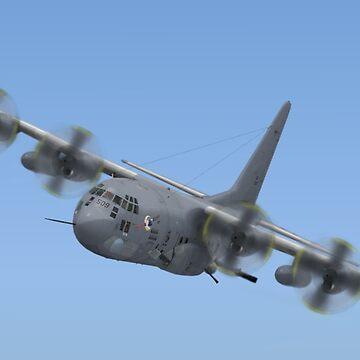 Lockheed AC-130 gunship (Spectre) by Skyviper