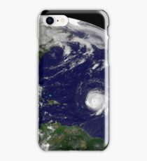 Three tropical cyclones active in the Atlantic Ocean basin. iPhone Case/Skin