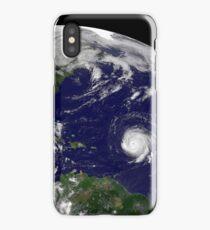 Three tropical cyclones active in the Atlantic Ocean basin. iPhone Case/Skin