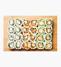 Sushi Rolls Photographic Print