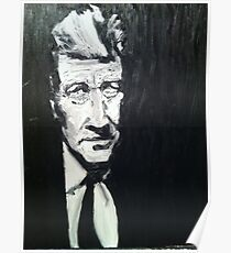 David Lynch portrait by William Wright Poster