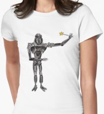 Cute Cylon with a Wand Women's Fitted T-Shirt
