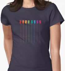 Rowing Pride Womens Fitted T-Shirt