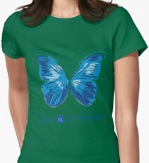 LIFE IS STRANGE - BUTTERFLY Womens Fitted T-Shirt
