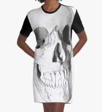 Human skull Graphic T-Shirt Dress