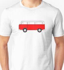 VW Type 2 Red Unisex T-Shirt