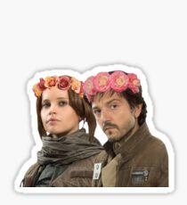 jyn erso and cassian andor Sticker