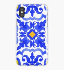 Portuguese azulejo tiles. Blue and white gorgeous seamless patterns. iPhone Case/Skin