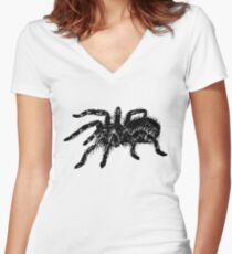 Tarantula spider Women's Fitted V-Neck T-Shirt
