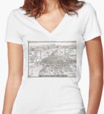 Colorado Springs - Colorado - 1909 Women's Fitted V-Neck T-Shirt