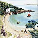 Cwm yr Egwlys - Pembrokeshire Coast Path.  by Helen Lush