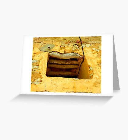 Wood And Stone In Harmony Greeting Card