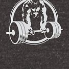 Gorilla Lifting Fitness Gym Tee by Carl Huber