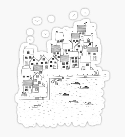 Harbour Sketch Sticker