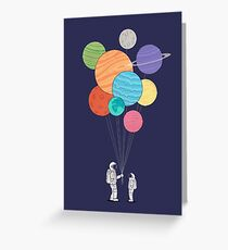 Space Balloons  Greeting Card