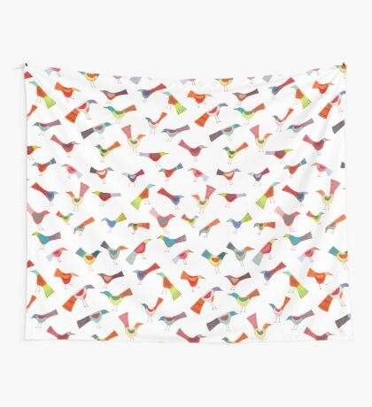 Birds doing bird things Wall Tapestry