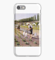 Gustave Caillebotte , The Gardeners iPhone Case/Skin