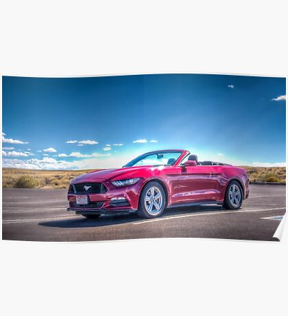 Red Hot Mustang Poster