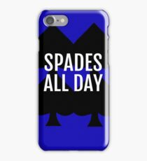 Spades All Day Lucky Deck of Cards iPhone Case/Skin