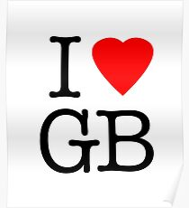 I Love Great Britain - I Heart GB Poster
