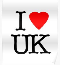 I Love United Kingdom - I Heart UK Poster