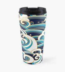Japanese Waves Travel Mug