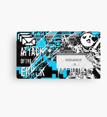WATCH_DOGS 2 - DedSec (ATTACK OF THE ERROR) Canvas Print