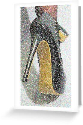 Spotty, dotty killer heels.  by art-of-heels