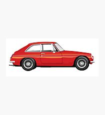 Mgb Gt Red  Vintage Classic UK Photographic Print