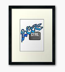Lose Ctrl (blue) Framed Print