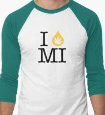 I Dab MI (Michigan) Weed Men's Baseball ¾ T-Shirt