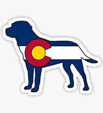 Colorado flag labrador dog Sticker
