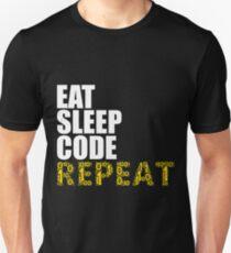 EAT SLEEP CODE REPEAT Computer Science Nerd Geek T-Shirt Unisex T-Shirt