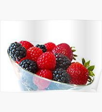 Berries in a glass Poster