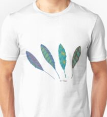 Drawing 4 feathers Unisex T-Shirt