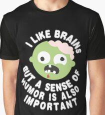 Zombie Sense Of Humor Graphic T-Shirt