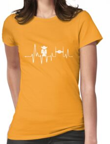Yoda Heartbeat - Pulse Womens Fitted T-Shirt