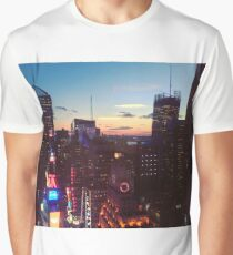 New York City (NYC) Times Square Ball at Sunset Graphic T-Shirt