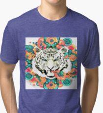 colorful Tiger Tri-blend T-Shirt