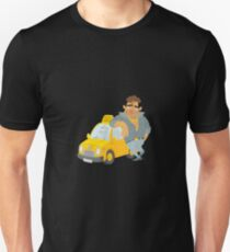 Funny Taxi Driver, yellow cab T-Shirt