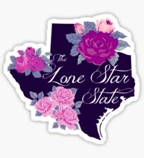 State Sayings - Texas is the Lone Star State Sticker