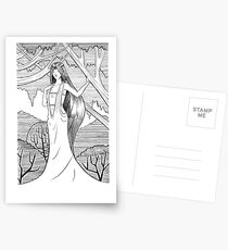 Lady of the Woods Postcards