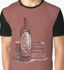 Books and wine Graphic T-Shirt