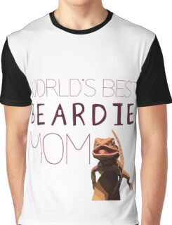 World's Best Beardie Mom Graphic T-Shirt