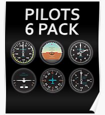 Pilots Six Pack. Poster