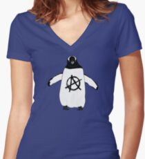 Anarchy in the Antarctic Women's Fitted V-Neck T-Shirt