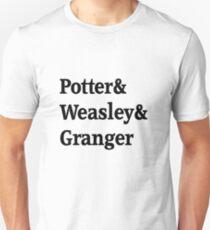 Potter, Weasley, Granger Unisex T-Shirt