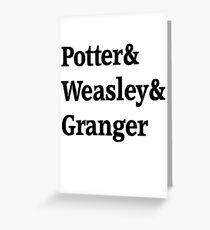 Potter, Weasley, Granger Greeting Card