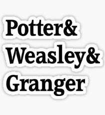 Potter, Weasley, Granger Sticker