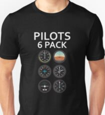 Pilots Six Pack Airplane Instruments Unisex T-Shirt